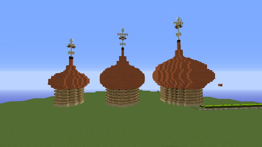 Minecrafterししゃもがマインクラフトでぷっこ村にプレオジェンスカヤ教会っぽいのを建築する1