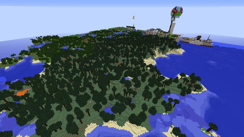 Minecrafterししゃもがマインクラフトでぷっこ村にプレオジェンスカヤ教会っぽいのを建築する7