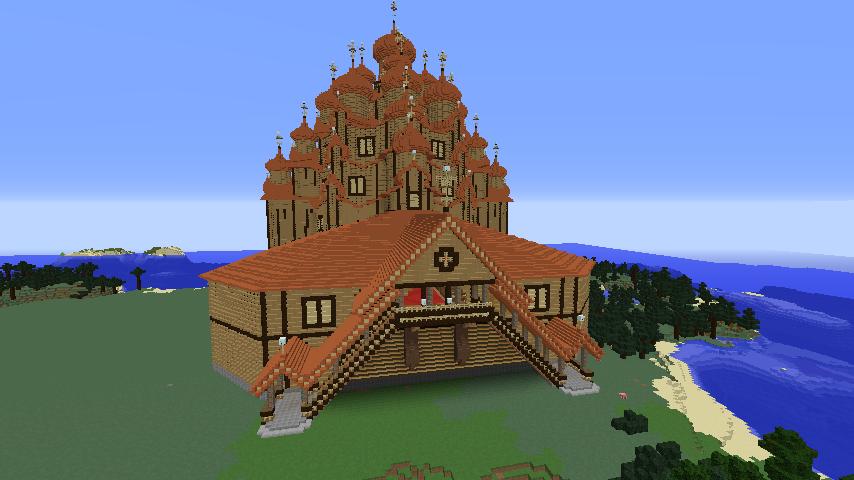 Minecrafterししゃもがマインクラフトでぷっこ村に作った教会の内装を紹介する11