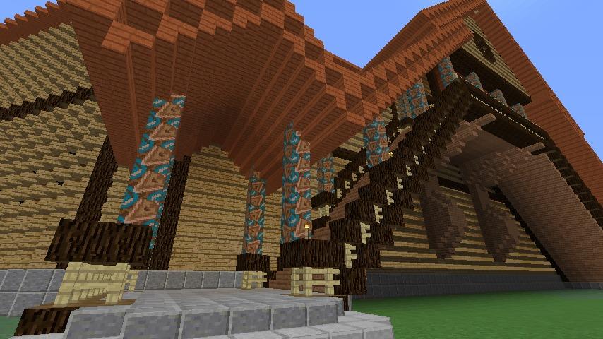 Minecrafterししゃもがマインクラフトでぷっこ村に作った教会の内装を紹介する1