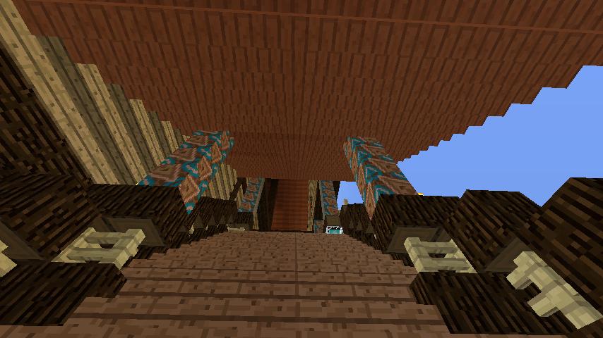 Minecrafterししゃもがマインクラフトでぷっこ村に作った教会の内装を紹介する2