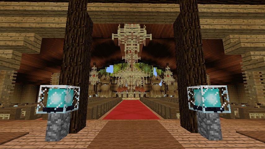 Minecrafterししゃもがマインクラフトでぷっこ村に作った教会の内装を紹介する3