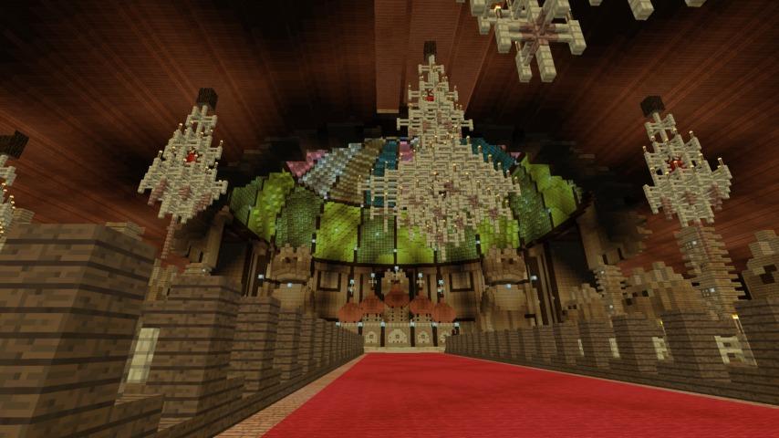 Minecrafterししゃもがマインクラフトでぷっこ村に作った教会の内装を紹介する5