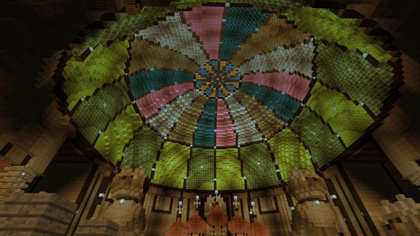 Minecrafterししゃもがマインクラフトでぷっこ村に作った教会の内装を紹介する7