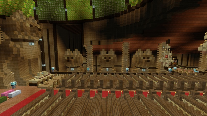 Minecrafterししゃもがマインクラフトでぷっこ村に作った教会の内装を紹介する6