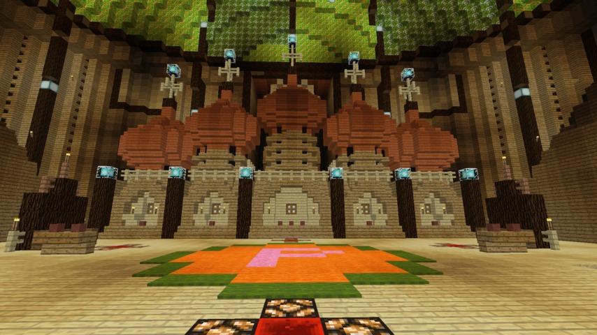 Minecrafterししゃもがマインクラフトでぷっこ村に作った教会の内装を紹介する8