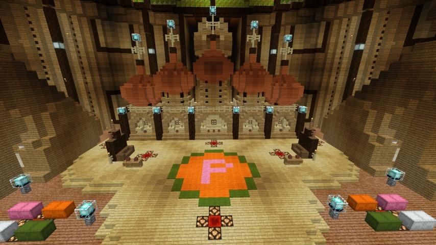 Minecrafterししゃもがマインクラフトでぷっこ村に作った教会の内装を紹介する9