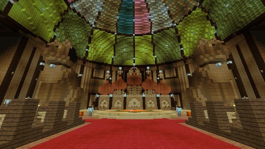 Minecrafterししゃもがマインクラフトでぷっこ村に作った教会の内装を紹介する10