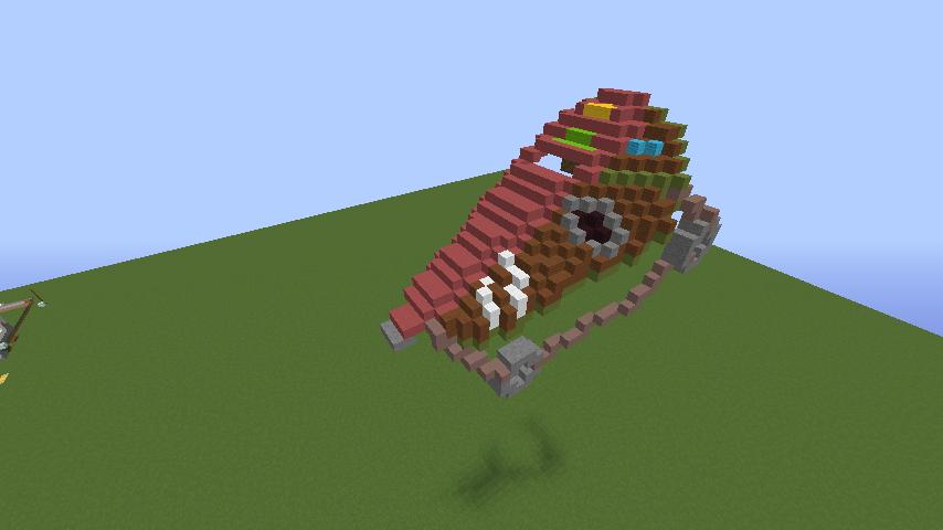 Minecrafterししゃもがマインクラフトでぷっこ村にゼルダの伝説の馬宿を作る1