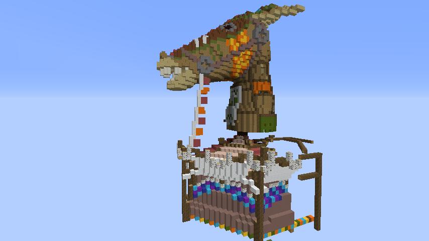 Minecrafterししゃもがマインクラフトでぷっこ村にゼルダの伝説の馬宿を作る3