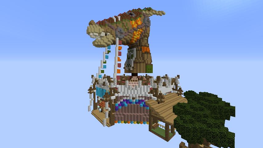 Minecrafterししゃもがマインクラフトでぷっこ村にゼルダの伝説の馬宿を作る4