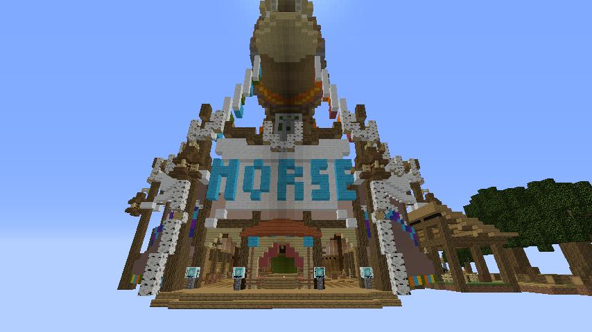 Minecrafterししゃもがマインクラフトでぷっこ村にゼルダの伝説の馬宿を作る5