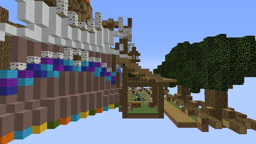 Minecrafterししゃもがマインクラフトでぷっこ村にゼルダの伝説の馬宿を作る6
