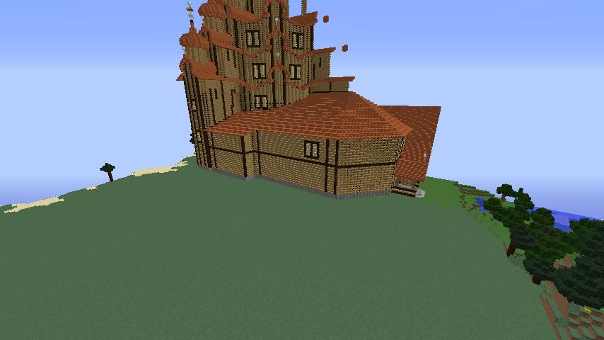 Minecrafterししゃもがマインクラフトでぷっこ村にゼルダの伝説の馬宿を作る10