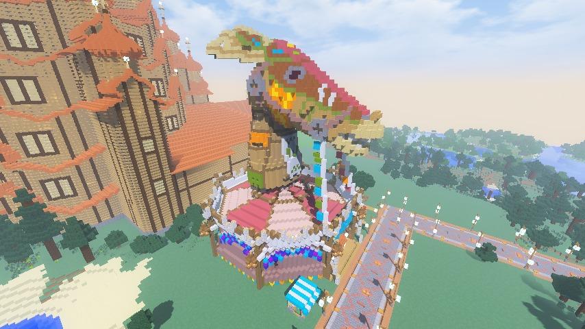 Minecrafterししゃもがマインクラフトでぷっこ村に作った馬宿で馬の借り方を紹介する11