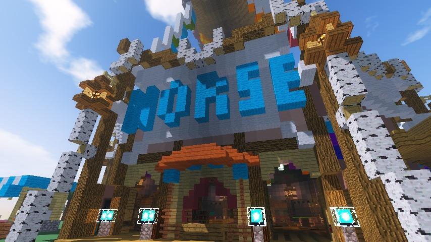 Minecrafterししゃもがマインクラフトでぷっこ村に作った馬宿で馬の借り方を紹介する13