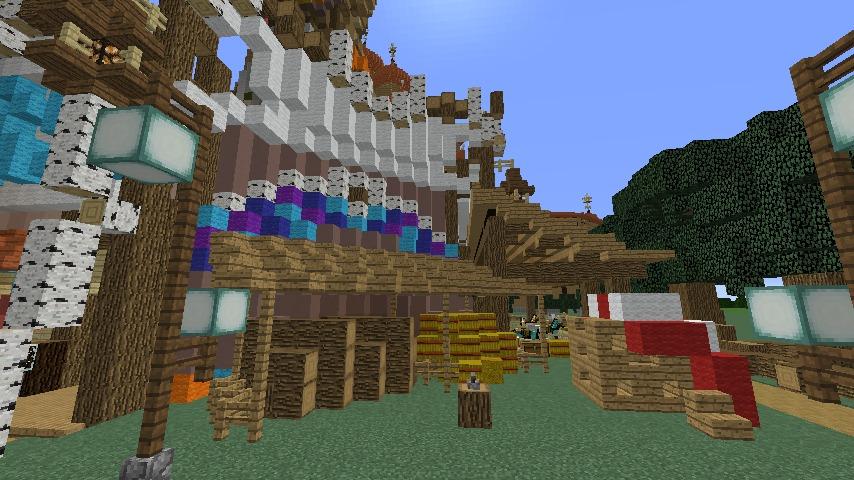 Minecrafterししゃもがマインクラフトでぷっこ村に作った馬宿で馬の借り方を紹介する3