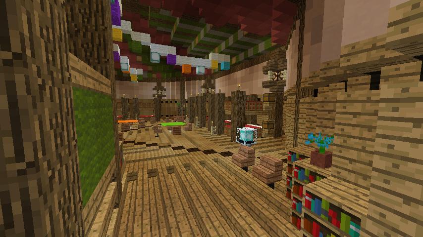 Minecrafterししゃもがマインクラフトでぷっこ村に作った馬宿で馬の借り方を紹介する6