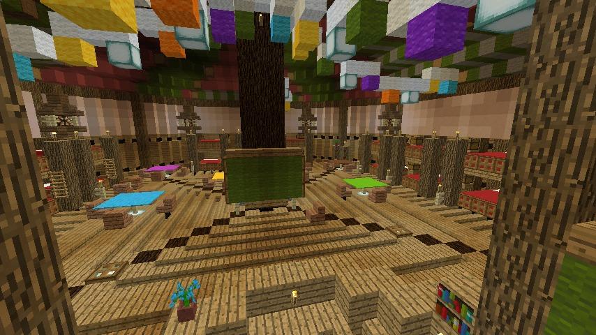 Minecrafterししゃもがマインクラフトでぷっこ村に作った馬宿で馬の借り方を紹介する7