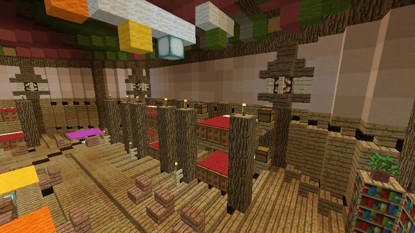 Minecrafterししゃもがマインクラフトでぷっこ村に作った馬宿で馬の借り方を紹介する8