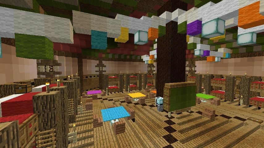 Minecrafterししゃもがマインクラフトでぷっこ村に作った馬宿で馬の借り方を紹介する9