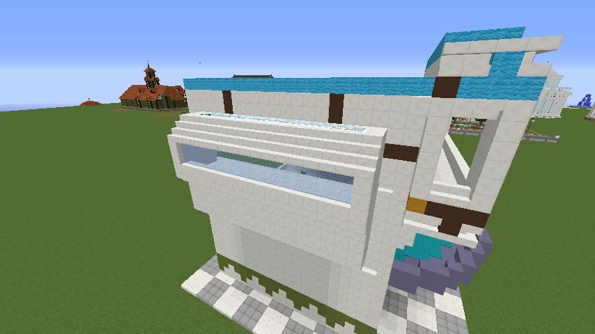 Minecrafterししゃもがくだらない話をしながらモダニズムな家を紹介する4
