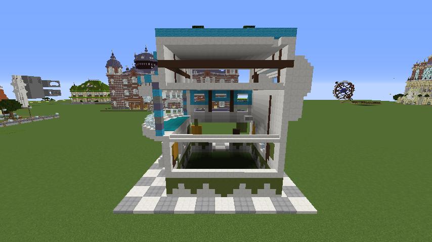 Minecrafterししゃもがくだらない話をしながらモダニズムな家を紹介する6