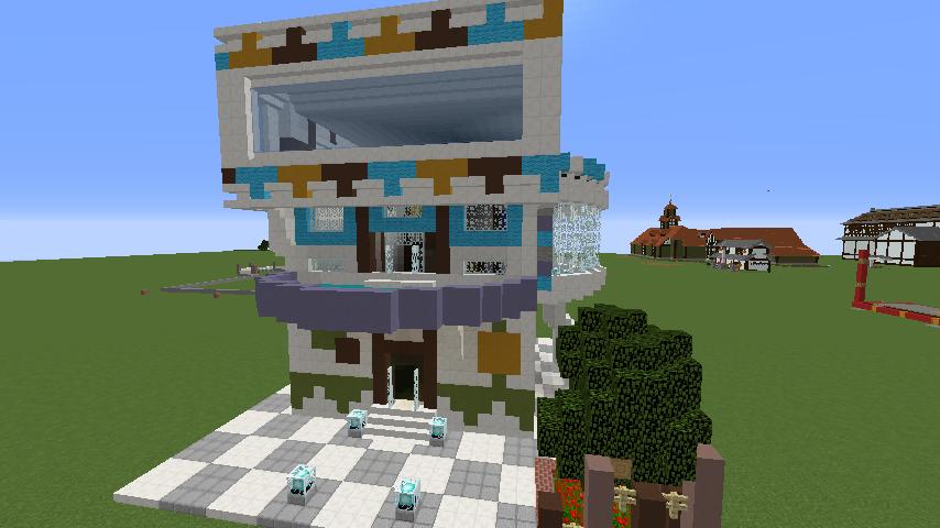 Minecrafterししゃもがくだらない話をしながらモダニズムな家を紹介する2