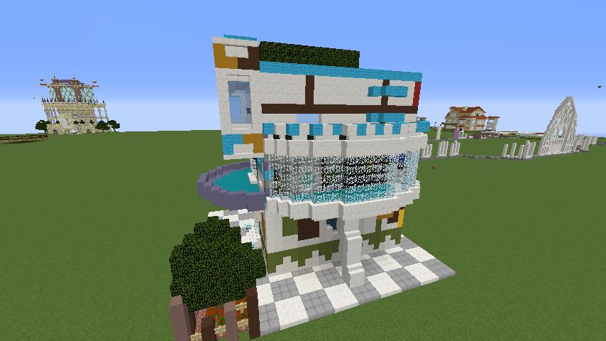 Minecrafterししゃもがくだらない話をしながらモダニズムな家を紹介する3