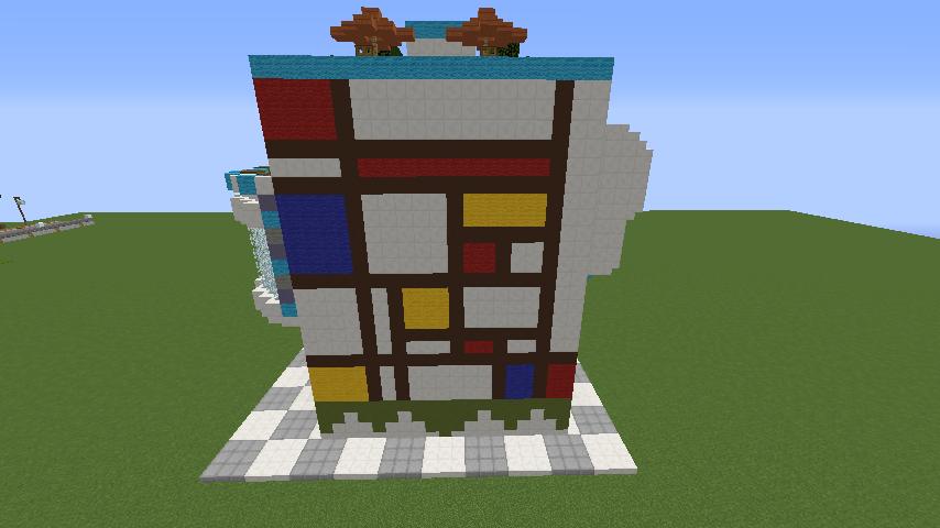 Minecrafterししゃもがくだらない話をしながらモダニズムな家を紹介する5
