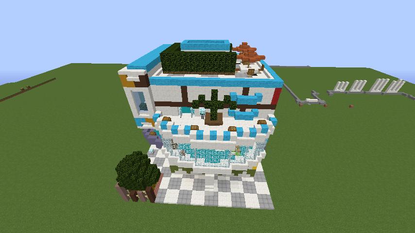 Minecrafterししゃもがくだらない話をしながらモダニズムな家を紹介する7
