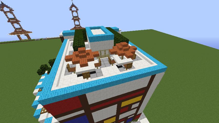 Minecrafterししゃもがくだらない話をしながらモダニズムな家を紹介する8