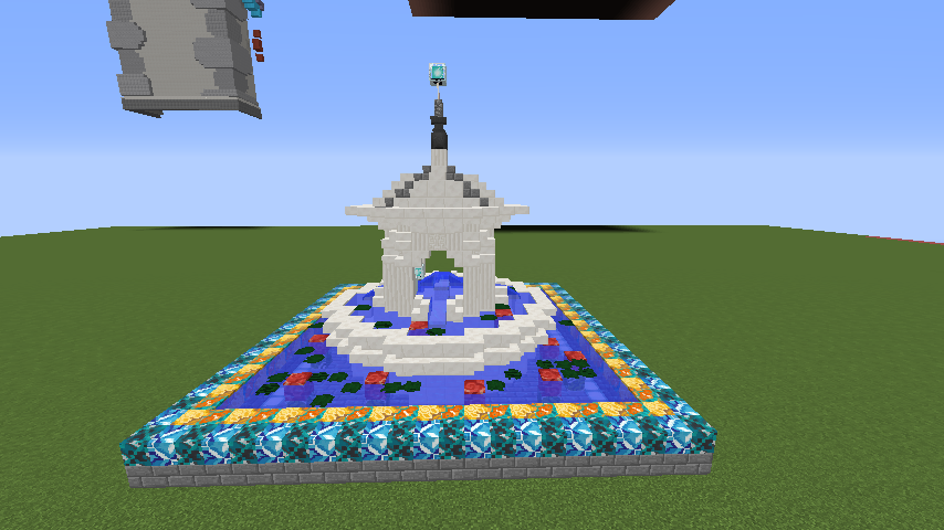Minecrafterししゃもがマインクラフトでぷっこ村にアジアな噴水を作る2
