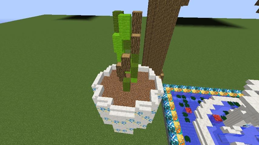 Minecrafterししゃもがマインクラフトでぷっこ村にアジアな噴水を作る5