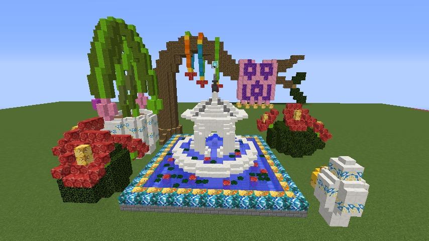 Minecrafterししゃもがマインクラフトでぷっこ村にアジアな噴水を作る8