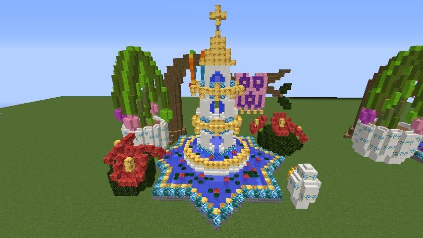 Minecrafterししゃもがマインクラフトでぷっこ村にアジアな噴水を作る9