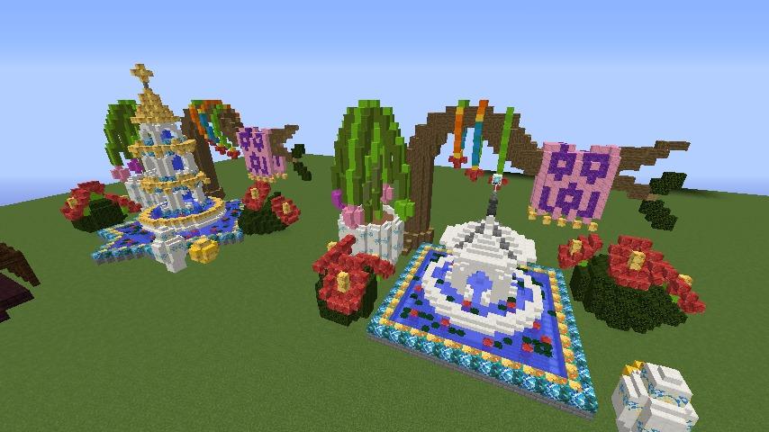 Minecrafterししゃもがマインクラフトでぷっこ村にアジアな噴水を作る10