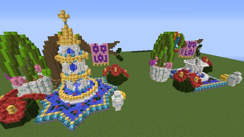 Minecrafterししゃもがマインクラフトでぷっこ村にアジアな噴水を作る11