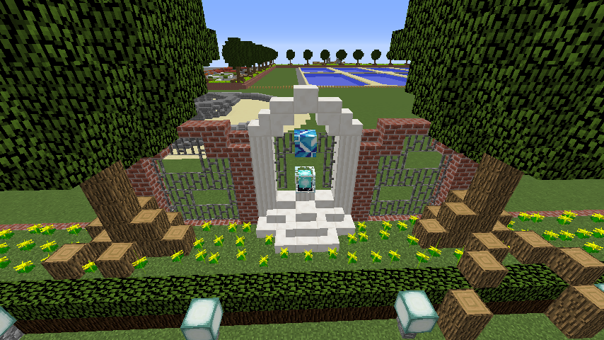 Minecrafterししゃもがマインクラフトでぷっこ村に浄水場を作る3