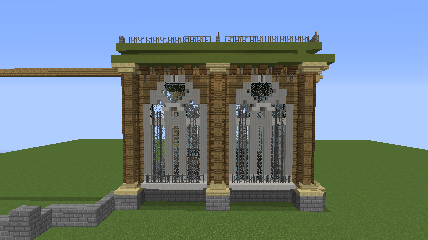 Minecrafterししゃもがマインクラフトでぷっこ村にアダムスファミリーの屋敷を作る2