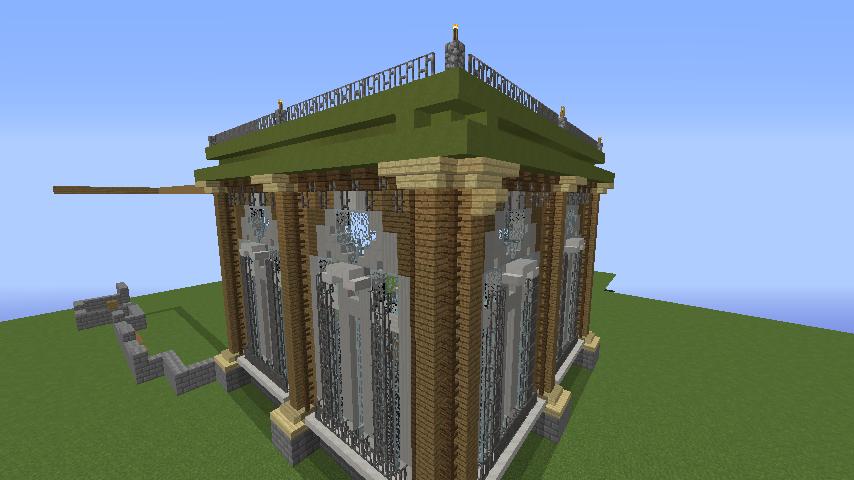 Minecrafterししゃもがマインクラフトでぷっこ村にアダムスファミリーの屋敷を作る3