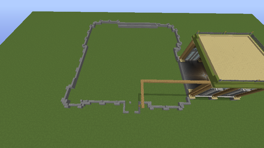 Minecrafterししゃもがマインクラフトでぷっこ村にアダムスファミリーの屋敷を作る1