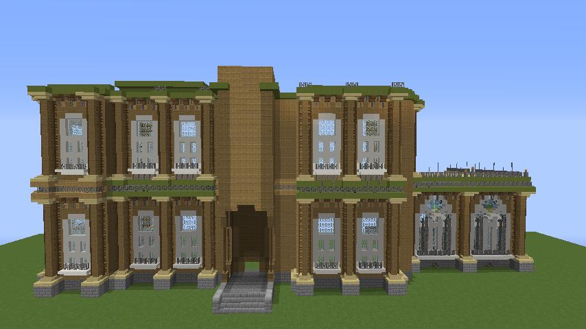 Minecrafterししゃもがマインクラフトでぷっこ村にアダムスファミリーの屋敷を作る7