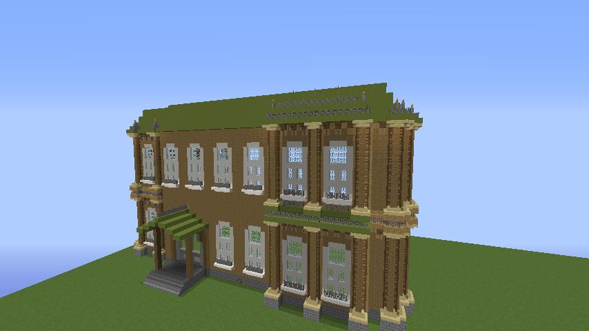 Minecrafterししゃもがマインクラフトでぷっこ村にアダムスファミリーの屋敷を作る6