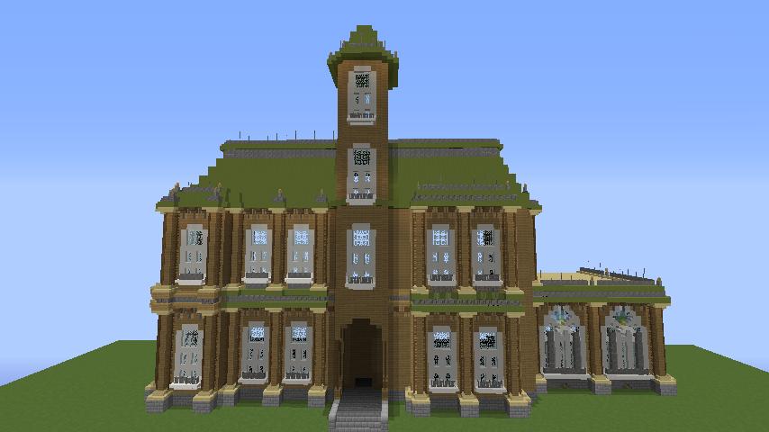Minecrafterししゃもがマインクラフトでぷっこ村にアダムスファミリーの屋敷を作る8