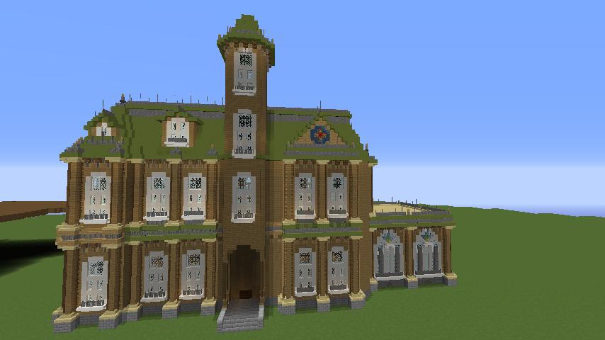 Minecrafterししゃもがマインクラフトでぷっこ村にアダムスファミリーの屋敷を作る9