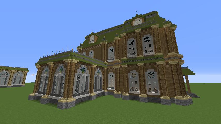Minecrafterししゃもがマインクラフトでぷっこ村にアダムスファミリーの屋敷を作る10