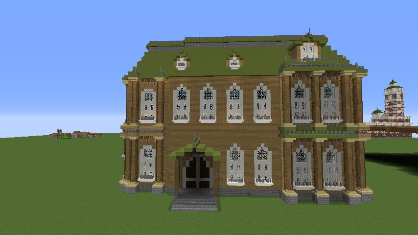 Minecrafterししゃもがマインクラフトでぷっこ村にアダムスファミリーの屋敷を作る11