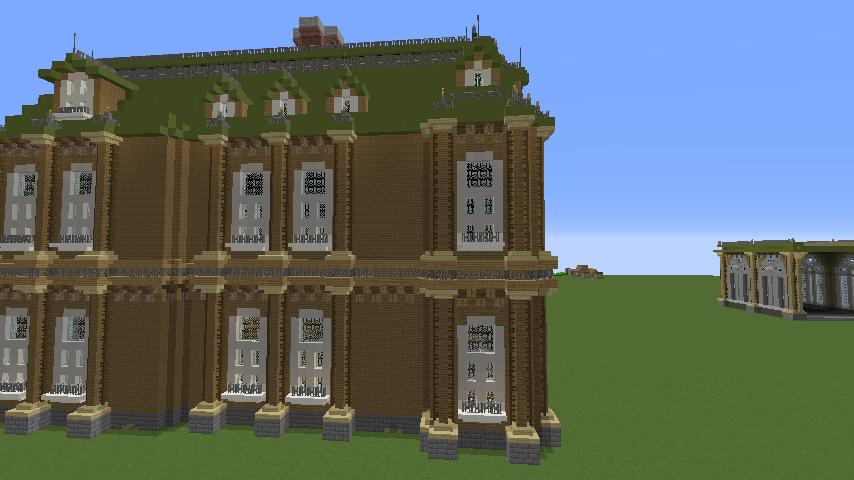 Minecrafterししゃもがマインクラフトでぷっこ村にアダムスファミリーの屋敷を作る12