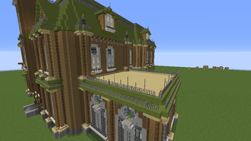 Minecrafterししゃもがマインクラフトでぷっこ村にアダムスファミリーの屋敷を作る13